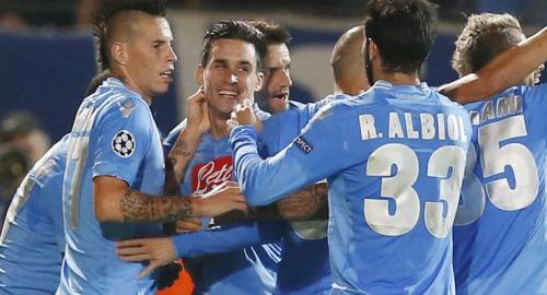 Napoli vs Marsiglia 3 a 2